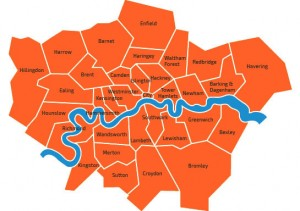 London 24 hour Pest Control-Map